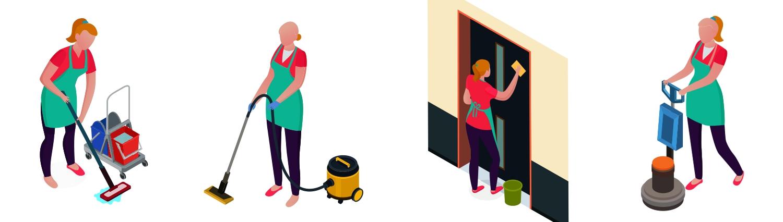 Úklid bytových domů, činžovních domů, panelových domů